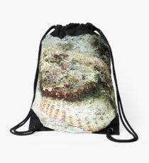 Scorpion Fish in the Sand Drawstring Bag