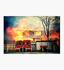 Detroit Fire Department  Photographic Print