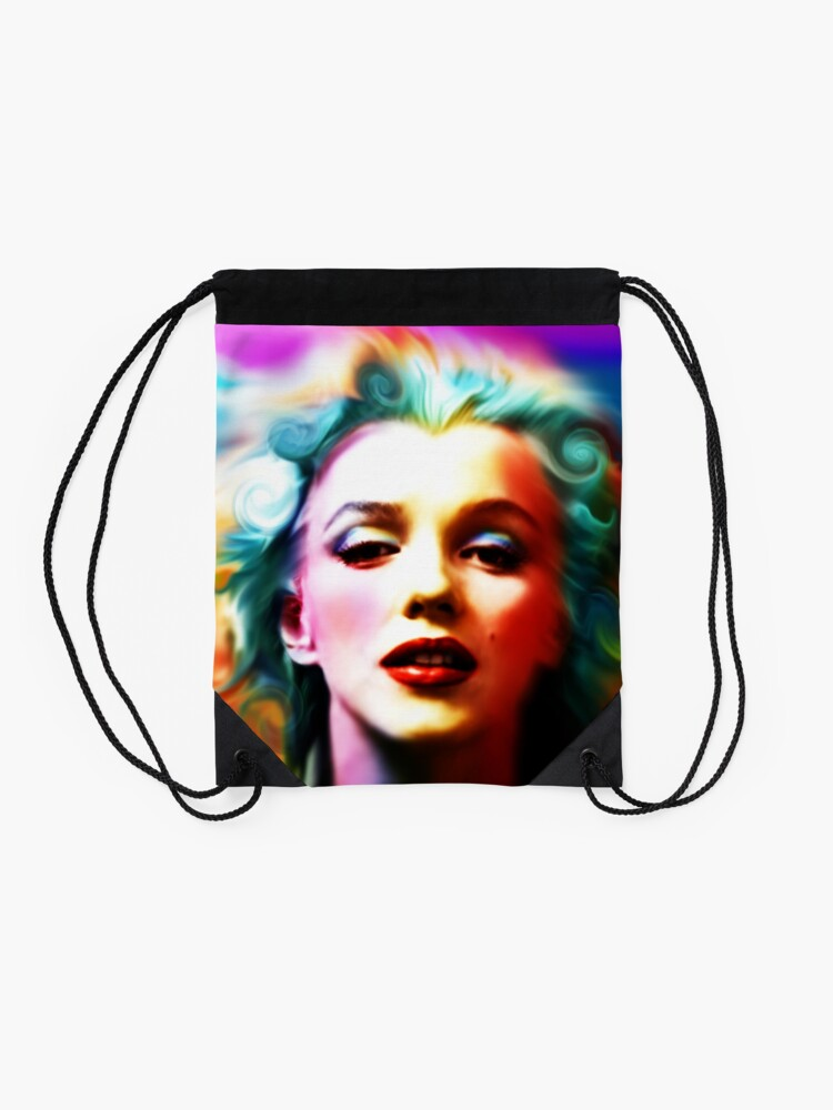Alternate view of She is like a Rainbow Drawstring Bag