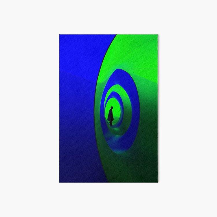 Blue and Green Solo Art Board Print