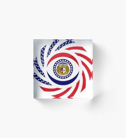 Missouri Murican Patriot Flag Series Acrylic Block