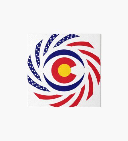 Coloradan Murican Patriot Flag Series Art Board Print
