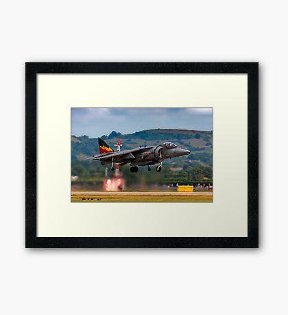 RAF Harrier GR9 hovering. Framed Print