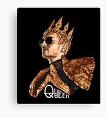 Queen Bill - White Text Canvas Print