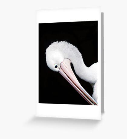 Curves - pelican portrait Greeting Card