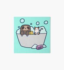 Faultier Kitty Bath Galeriedruck