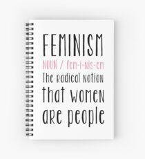Feminism definition Spiral Notebook