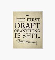 First Drafts Galeriedruck