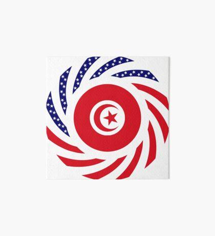 Tunisian American Multinational Patriot Flag Series Art Board Print