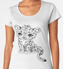 Snow Leopard Premium Scoop T-Shirt