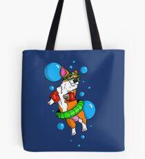 Bolsa de tela Nadador Corgi