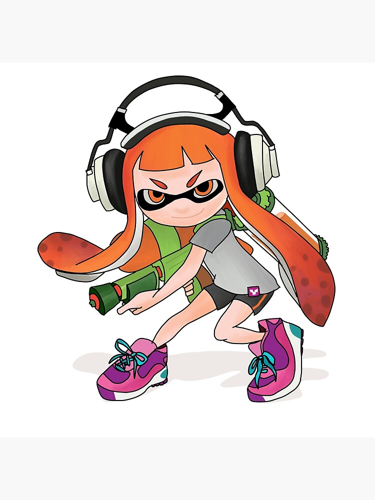 Splatoon Squid Kid Nintendo Print Art Board Print By Niymi