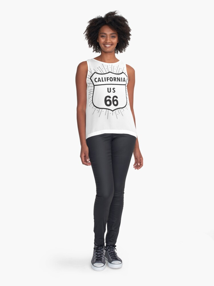 Alternate view of California route 66 Sleeveless Top
