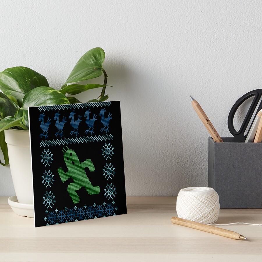 Christmas Cactus Art Board Print
