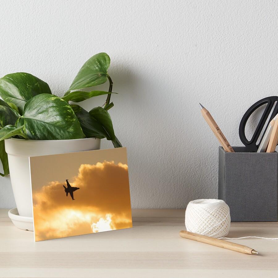 Sunset flyby Art Board Print