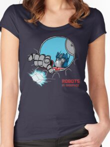 Robots in Disgrace Women's Fitted Scoop T-Shirt