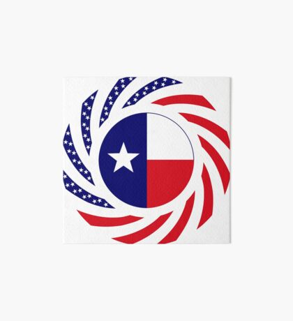 Texan Murican Patriot Flag Series Art Board Print