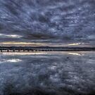 Two Ducks and a Long Jetty by Jason Ruth