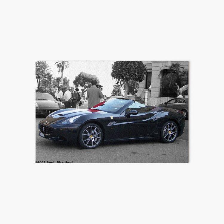 Black Ferrari California  Art Board Print
