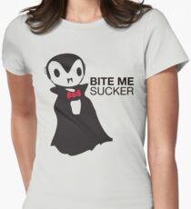 Bite me, SUCKER! Womens Fitted T-Shirt