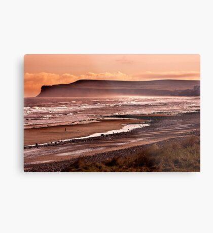 Saltburn Bay Metal Print