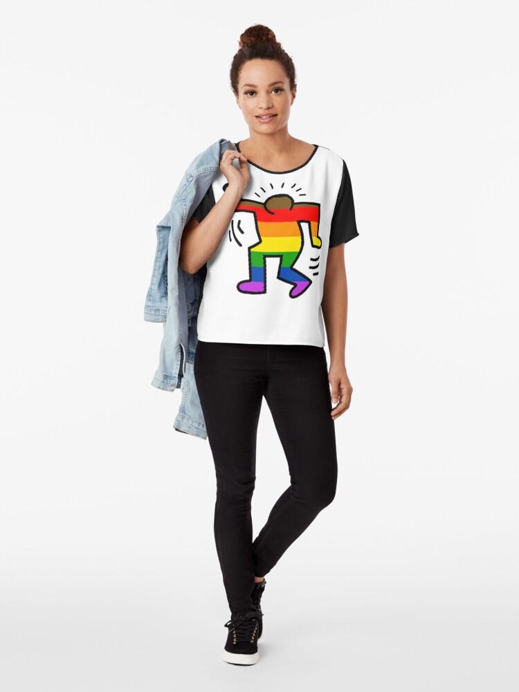 Alternative Ansicht von Keith Haring Homosexuell Chiffon Top