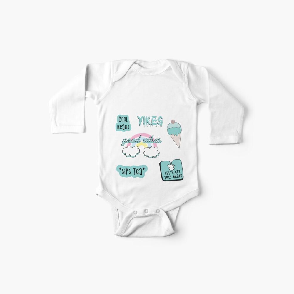 Blaugrün Pastell Sticker Pack Baby Bodys
