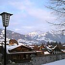 Swiss town in the Alps by chipster