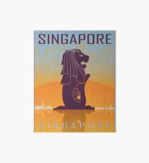 Singapore vintage poster Art Board Print