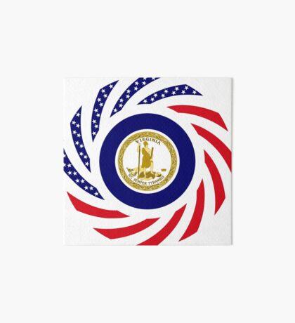 Virginian Murican Patriot Flag Series Art Board Print