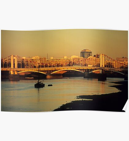 Battersea Sunset Poster