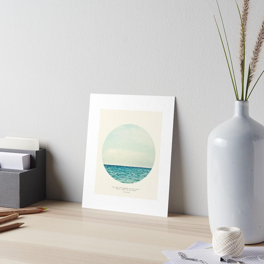 Salt Water Cure - Circle Print Art Board Print