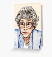 Strong women characters of Coronation Street - Blanche Hunt. 1202 views 13th June 2012 Greeting Card