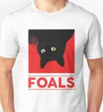 Schwarze Katze Fohlen Slim Fit T-Shirt