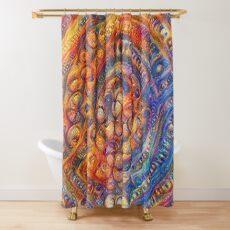 DeepDream abstraction Shower Curtain