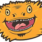 Wacky Bearded Dragon by PogonaVitticeps