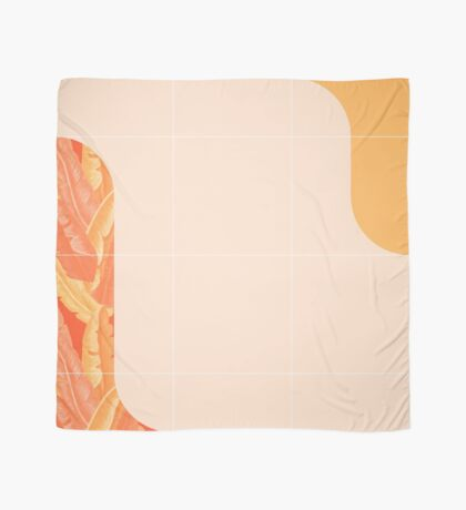 Mid-Century Tropical Orange Style #redbubble #tropical Scarf