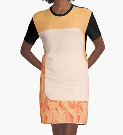 Mid-Century Tropical Orange Style #redbubble #tropical Graphic T-Shirt Dress