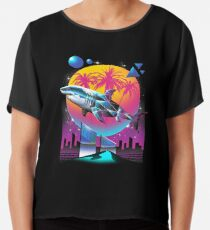 Rad Shark Chiffon Top