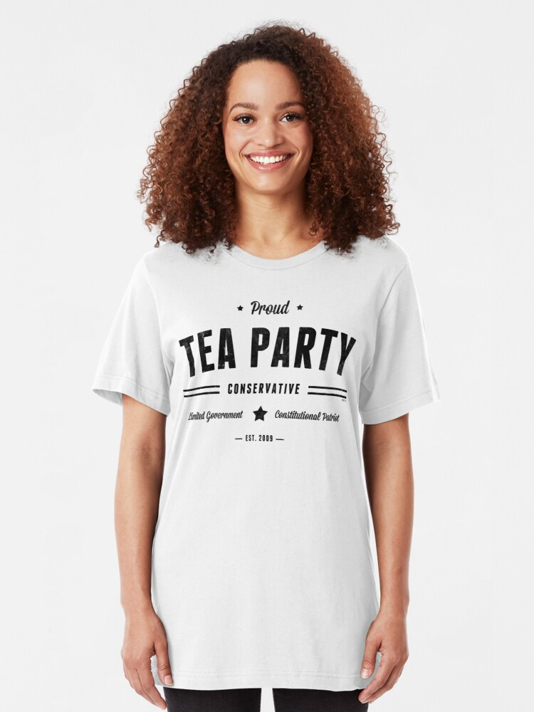 Alternate view of Tea Party Conservative Slim Fit T-Shirt
