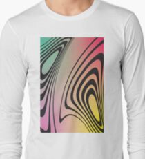 Abstract Gradient No. 4 Long Sleeve T-Shirt