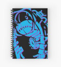 Metroid Fusion Nightmare - Blue Spiral Notebook