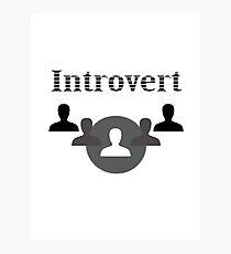 Introvert Photographic Print