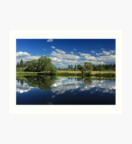 Hat Creek Reflections Art Print