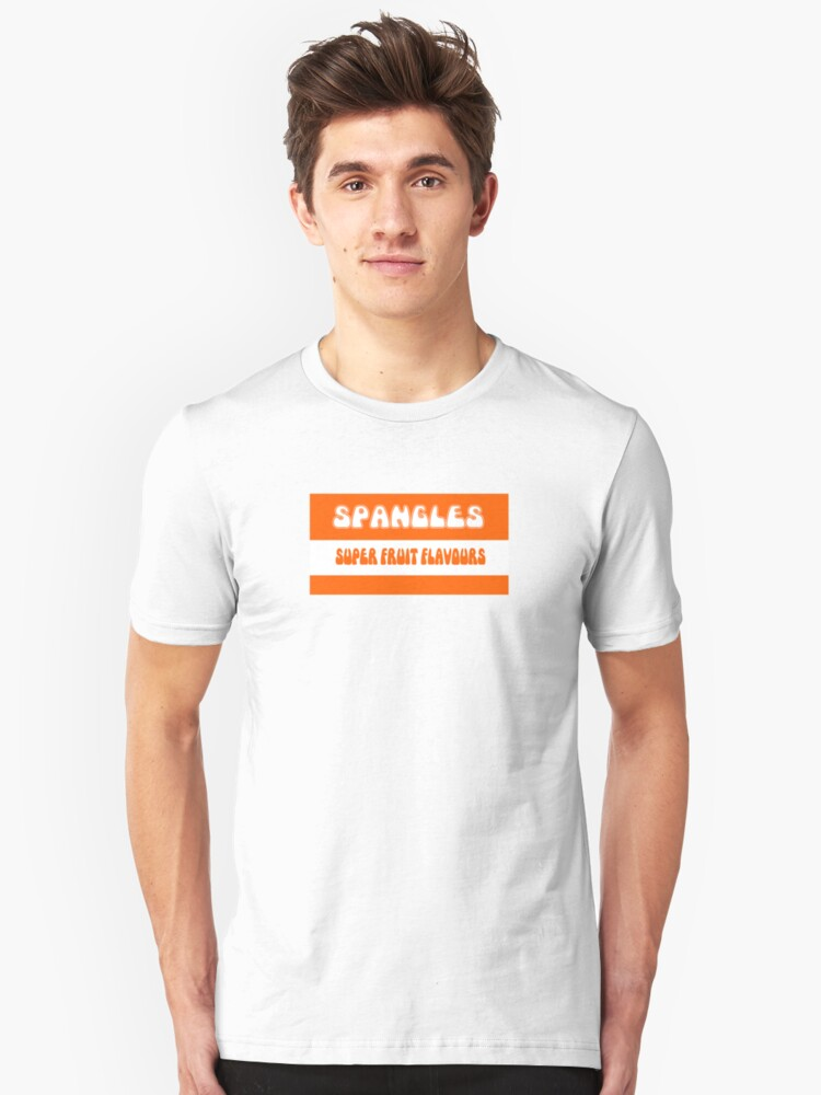 Alternate view of Super Fruit Flavoured Spangles 1970s retro boiled sweets Slim Fit T-Shirt