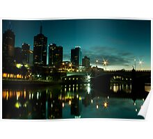 Melbourne Skyline and Princes Bridge Poster