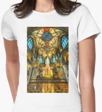 Tewkesbury At Christmas Women's Fitted T-Shirt