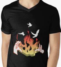 Phoenix reborn from Fire Mens V-Neck T-Shirt