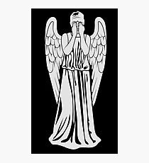 Beware of the weeping angel Photographic Print