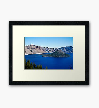 Crater Lake Wizard Framed Print